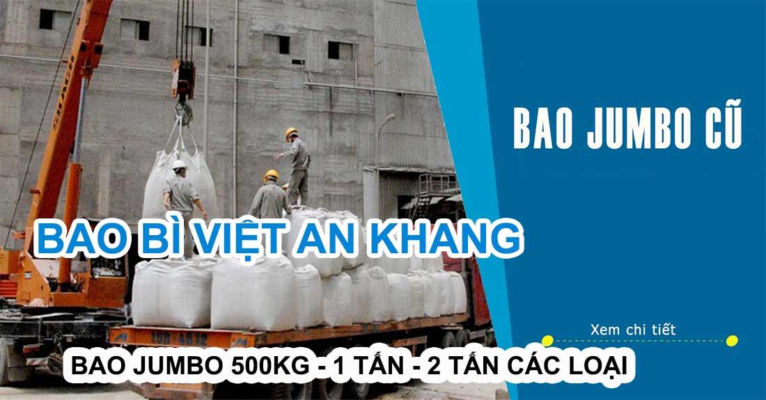 Cung cấp bao jumbo cũ các loại 500kg 1 tấn 2 tấn