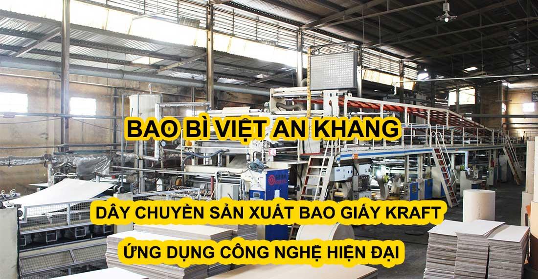 Dây chuyền sản xuất bao bì giấy kraft ứng dụng công nghệ hiện đại nhất